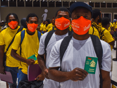 Airports Vanuatu welcomes the first quarantine-free departure to New Zealand for seasonal workers